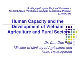 Scaling-up Program Regional Conference for Joint Japan World Bank Graduate Scholarship Program  JJ