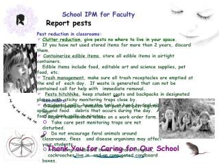 School IPM for Faculty