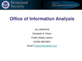 Office of Information Analysis        IA-L