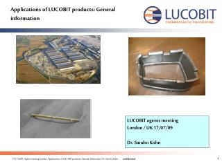 Applications of LUCOBIT products: General information