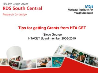 Steve George HTACET Board member 2006-2010