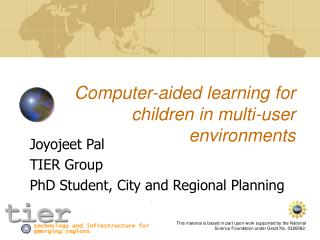 Computer-aided learning for children in multi-user environments