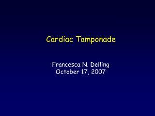 Francesca N. Delling October 17, 2007