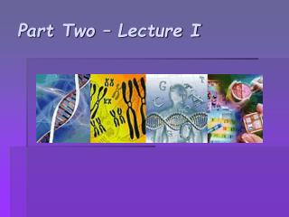 Part Two   Lecture I