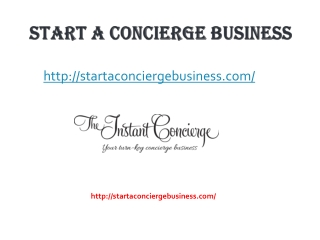Starting A Concierge Service