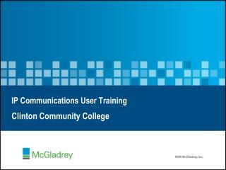 IP Communications User Training