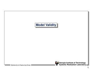Model Validity
