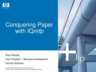 Conquering Paper with IQmfp
