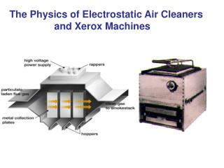The Physics of Electrostatic Air Cleaners    and Xerox Machines