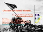 Overview of Veterans  Benefits