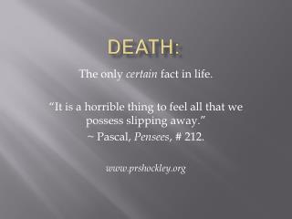 Death: