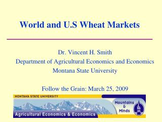 World and U.S Wheat Markets
