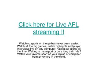 Brisbane Lions vs Fremantle Dockers Live Football streaming
