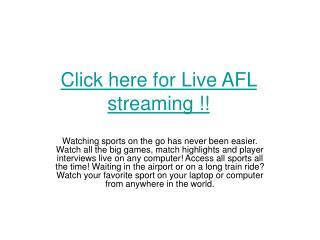 Hawthorn Hawks vs Adelaide live AFL 2011 online football str