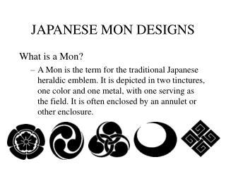 JAPANESE MON DESIGNS