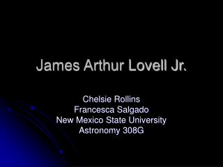 James Arthur Lovell Jr.