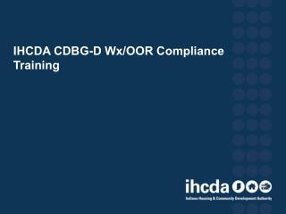 IHCDA CDBG-D Wx