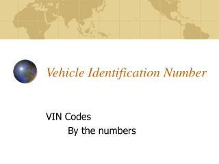 Vehicle Identification Number