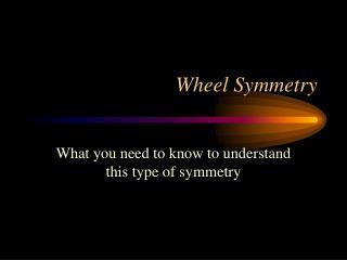 Wheel Symmetry