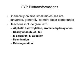 CYP Biotransformations