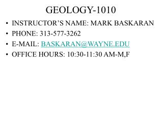 GEOLOGY-1010