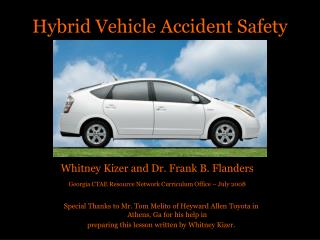 Hybrid Vehicle Accident Safety