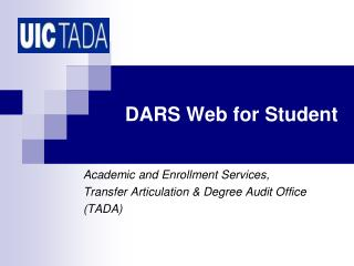 DARS Web for Student