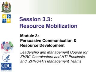 Session 3.3: Resource Mobilization