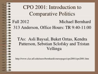 CPO 2001: Introduction to Comparative Politics