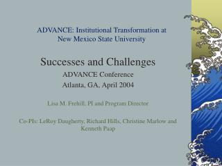 ADVANCE: Institutional Transformation at  New Mexico State University