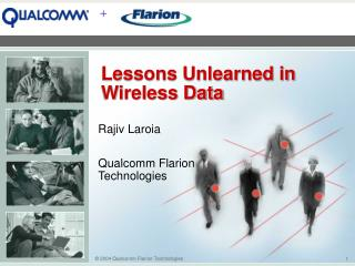 Lessons Unlearned in Wireless Data