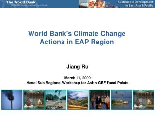 World Banks Climate Change Actions in EAP Region
