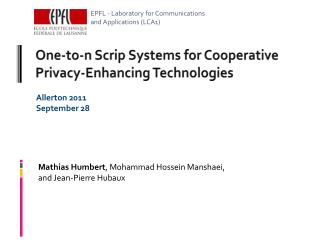 One-to-n Scrip Systems for Cooperative Privacy-Enhancing Technologies