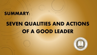 7.01 PowerPoint      Objective 7.01 Understand leadership.