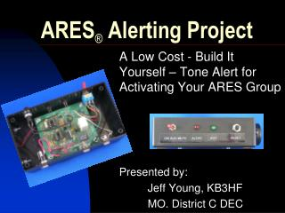 ARES  Alerting Project