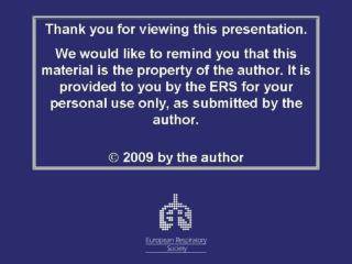 Case Presentation  PG 12, ERS Conference, Vienna, Sept 12th, 2009