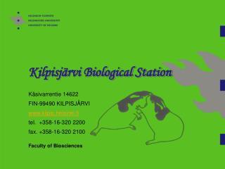 Kilpisj rvi Biological Station