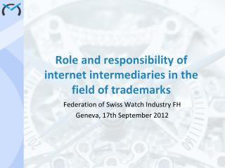 Role and responsibility of internet intermediaries in the field of trademarks