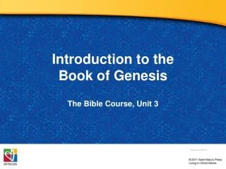 Introduction to the  Book of Genesis