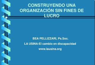 CONSTRUYENDO UNA ORGANIZACI N SIN FINES DE LUCRO