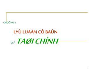 CH  NG 1                       LY  LUA N C  BA N         VE  TA I CH NH