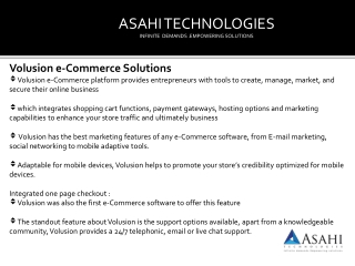 Volusion e-Commerce Solutions ny