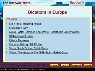 s: Common Features of Totalitarian GovernmentsStalin