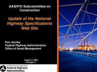 AASHTO Subcommittee on Construction
