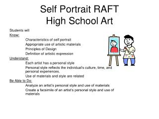 Self Portrait RAFT High School Art