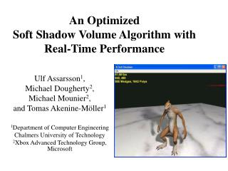 An Optimized  Soft Shadow Volume Algorithm with Real-Time Performance