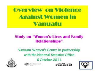 Overview  on Violence Against Women in Vanuatu