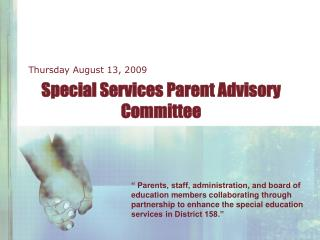 Special Services Parent Advisory Committee
