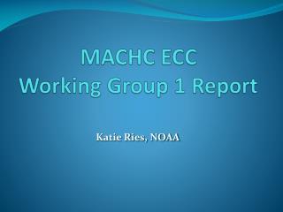 MACHC ECC  Working Group 1 Report