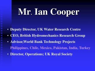 Mr. Ian Cooper